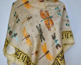 Vintage BASILE printed silk scarf .....(173)