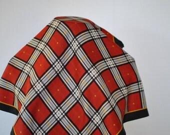Vintage JEROME LEPLAT small silk scarf....(184)