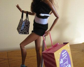 Barbie Doll Size Luggage / Wheelie / Suitcase