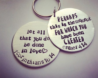 Bible Verse Keychain, Gift of encouragement