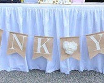 Glitter Letters & Burlap Banner - Baptism, Birthday, Wedding, Baby Shower, Bachelorette.