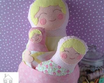 Babushka Matryoshka Russian Nesting Dolls plush