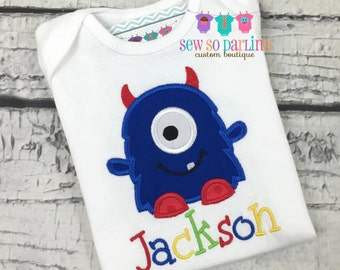 Baby Boy Monster Shirt - Monster Shirt - Baby Boy Monster Outfit - Baby boy clothes
