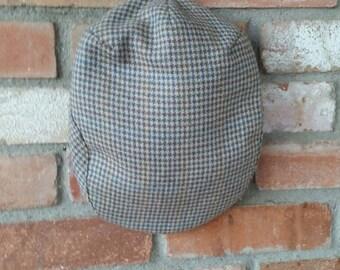 Houndstooth Wool and Silk Golf/Tam/Cap/Hat/Drivers Cap/Flat Cap