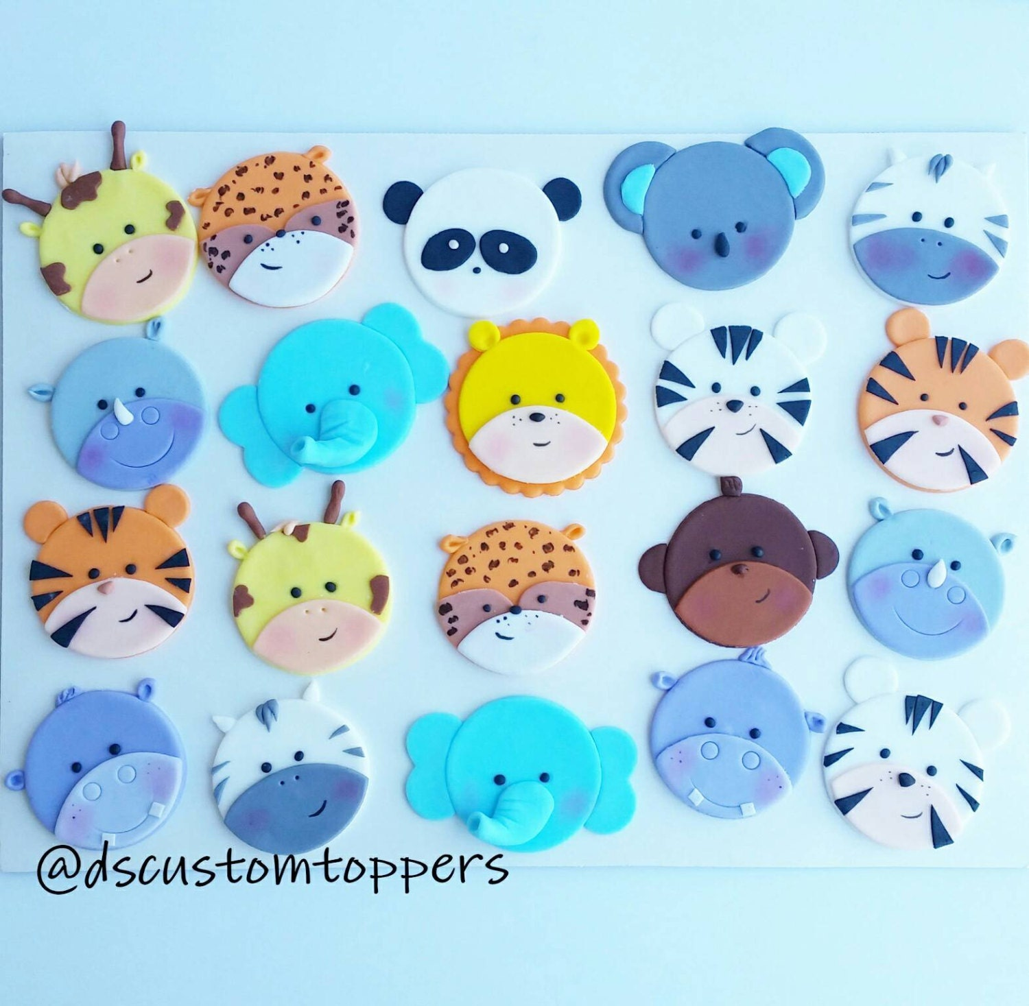 Jungle And Safari Cupcake Toppers. Zoo Baby Shower. Baby