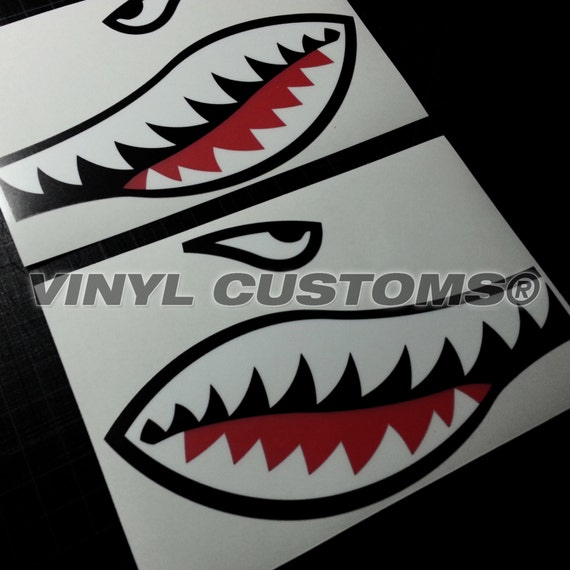 Flying Tigers Vinyl Decal Sticker Shark Teeth Hobby Ww2 V2