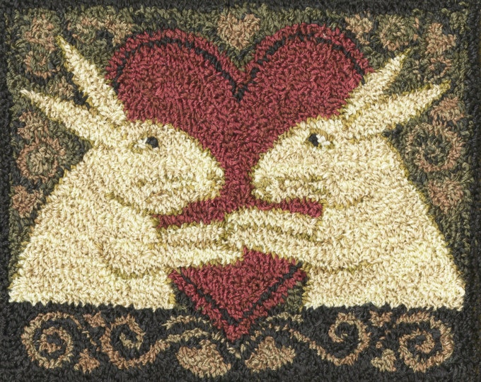 Featured listing image: Pattern: Bunny Love Punch Needle by Teresa Kogut