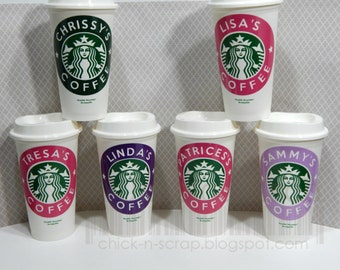 "Starbucks Personalized ""To Go"" Coffee Cup.... Coffee LOVERS...Reusable Coffee Cup"