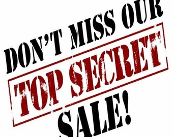 Secret Sale Coupon Code