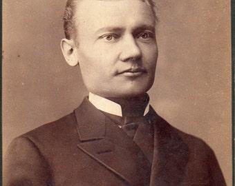 Antique Photo of Poker-Faced Gentleman