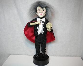Vintage Rennoc Animated Halloween Figure Dracula Vampire