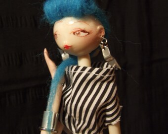 OOAK Dolls, BJD, Punk-Rock baby, strawBerryJDolls.