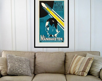 Reprint of the Fritz Lang Film Manraketen