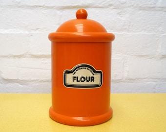 Vintage flour storage tub