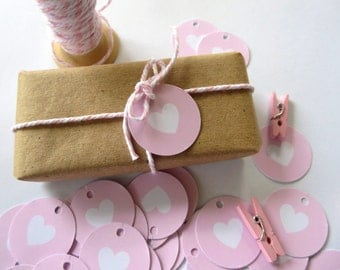 Love Heart Gift Tags/ Wedding Favour Tags/ Engagement Favour Tags/ Baby Shower Gift Tags - GT036