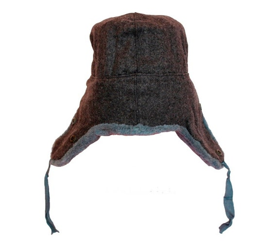 1980s soviet surplus Stylish russian ushanka with badge ear hat with ear flaps folded back fur hats for men S L 2XL