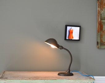 vintage gooseneck table lamp