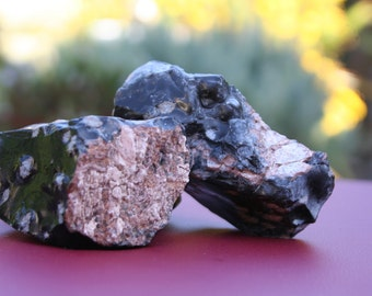 Snowflake Obsidian (large, raw) - Blessed