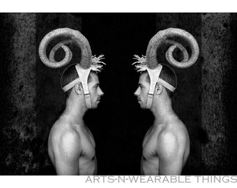 """Fantasy Photography """"Aries Too"""" 16x20 black & white framed print"""