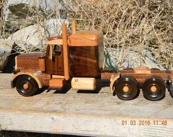 Wooden Semi w/small sleeper #6
