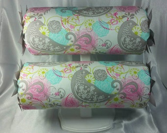 """Headband Holder or head band organizer """"Parakeet"""" or you pick fabric Handmade stand up Double - 2 tiers"""