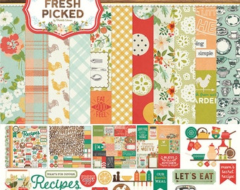 Photo Play FRESH PICKED 12x12 Scrapbook Paper Collection Kit - Garden Theme FP2264