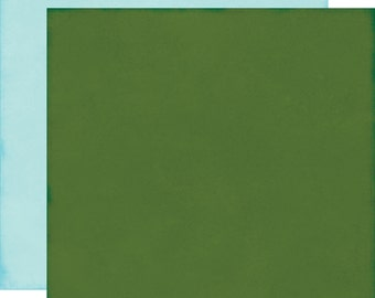 2 Sheets of Echo Park Paper THE STORY of CHRISTMAS 12x12 Scrapbook Paper - Dark Green/Blue (TSC94019)