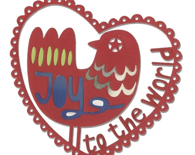 New! Sizzix Thinlits Die - Joy to the World by Debi Potter