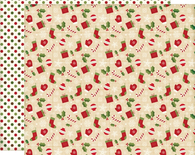 1 Sheet of Echo Park Paper THE STORY of CHRISTMAS 12x12 Scrapbook Paper - Icons (TSC94006)