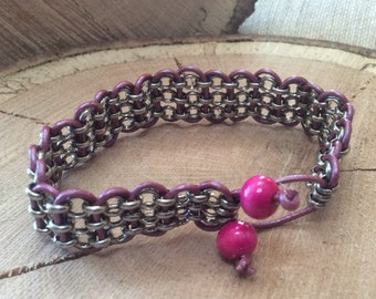 Leather Weaved Chain Bracelets