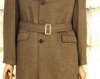 Wool trench coat made in Italy size M-L, 1970s