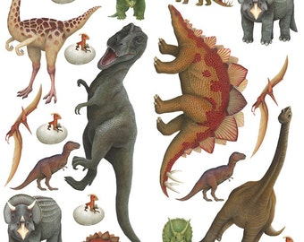 Dinosaurs Economy Size Collection Panel (48 in. x 48 in.)