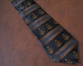 Lawyer Attorney Necktie Men's Tie Father's Day Gift Scales of Justice Law Library Judge Court New