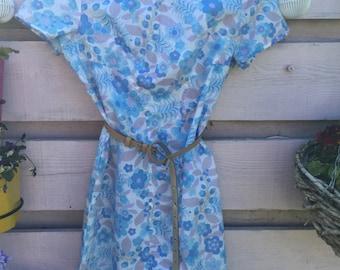 Slideaway blues 80's dress