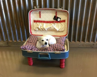 Vintage Suitcase Pet Bed- SALE!!!