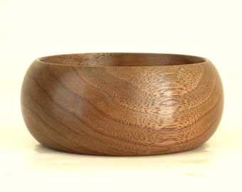 Small Wooden Bowl Turned in Walnut