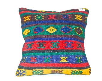 Turkish Throw Pillow Two Set Decorative Pillow, Two Set 48Dolar, Accent Pillow Bohemian Pillow Vintage Kilim Pillow Cover Old Cushion