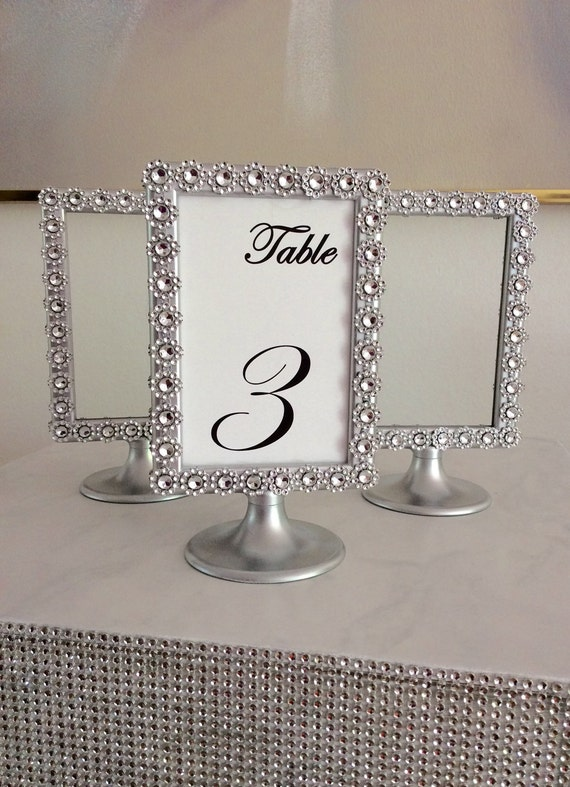 items similar to silver bling silver pedestal display photo frames 4x6 two sided perfect for. Black Bedroom Furniture Sets. Home Design Ideas