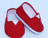 MADDIES - Toms Style Shoes for 18 inch Dolls - Red
