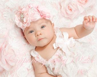 Pink Headband/Baby Headband/Baby Headbands and Bows/Infant Headband/Baby Girl Headband/Girl Headband Baby/Toddler Headband/Baby Romper