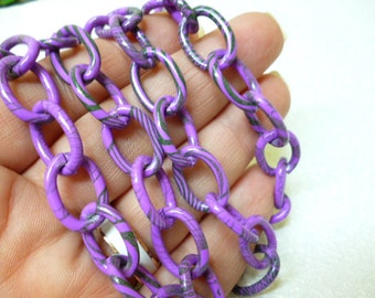 8 in Nikel Free Violet Chain_S346545645_Colored Chains_of 8 in_12 mm_pack 3ft_100 cm
