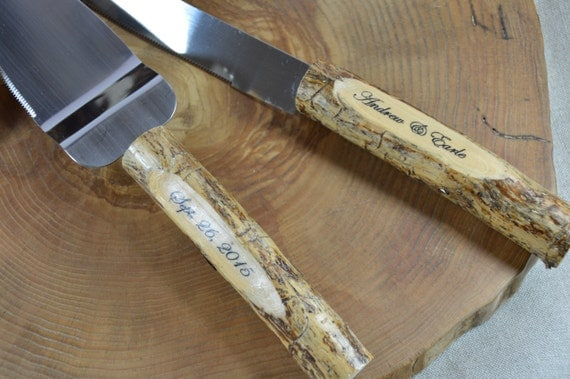 rustic wedding cake knives rustic country chic wedding knife set by 19544