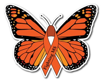 MS Multiple Sclerosis Awareness Sticker/Decal or Magnet