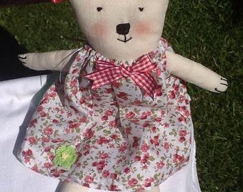 Calico teddy bear