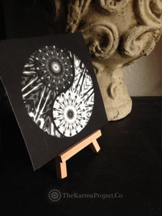 Items similar to yin yang canvas abstract painting wall for Decoration murale yin yang