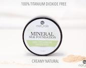 Creamy Natural Titanium Dioxide FREE loose mineral foundation powder