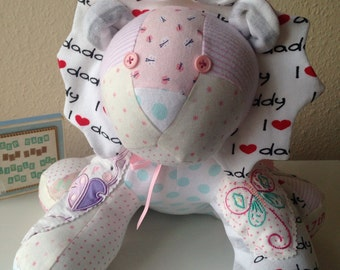 Keepsake Memory Lion from your Baby Clothes