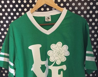"St. Patrick's Day ""LOVE"" Shirt / St. Patrick's Day Shirt / St. Patty's Day Shirt / St. Patty's Day ""LOVE"" Shirt / St. Patrick's Day Jersey"