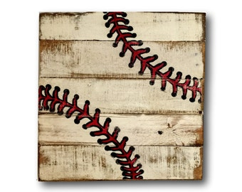 Baseball Sign Boys Room Decor Sports Wood Rustic Vintage