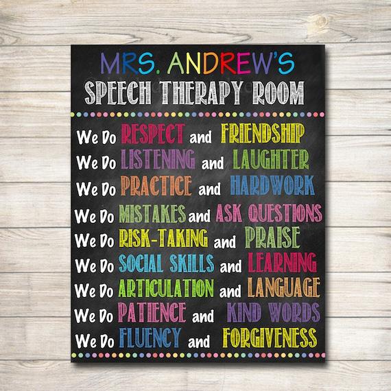 Speech Language Classroom Decorations ~ Speech therapist communications language printable classroom